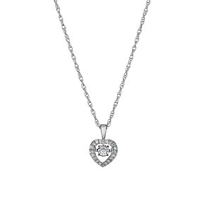 Diamonds in Rhythm silver 12 point diamond heart pendant - Product number 1526278