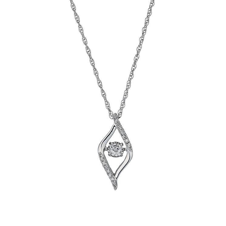 Diamonds in Rhythm silver 20 point diamond swirl pendant - Product number 1526286