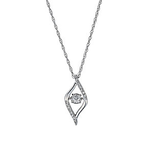 Diamonds in Rhythm silver 20 point diamond swirl pendant - Product number 1526286