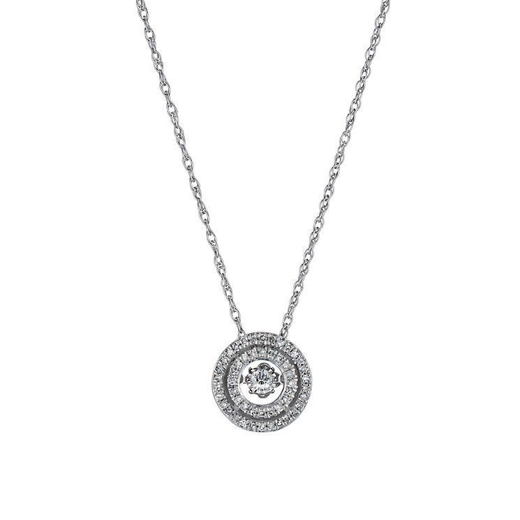 Diamonds in Rhythm silver 0.25ct diamond halo pendant - Product number 1526316