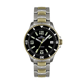 Rotary Aquaspeed men's two colour bracelet watch - Product number 1526472