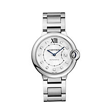 Cartier Ballon Bleu 36mm ladies' steel bracelet watch - Product number 1568248