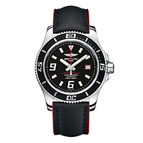 Breitling Superocean 44 men's black leather strap watch - Product number 1592378
