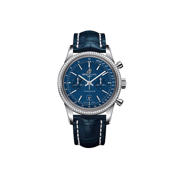 Breitling Transocean Chronograph 38 Ladies' Strap Watch - Product number 1592440