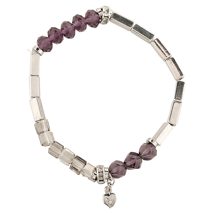 Martine Wester Kaleidoscope Purple Beaded Stretch Bracelet - Product number 1592971