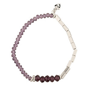 Martine Wester Kaleidoscope Purple Beaded Stretch Bracelet - Product number 1592998