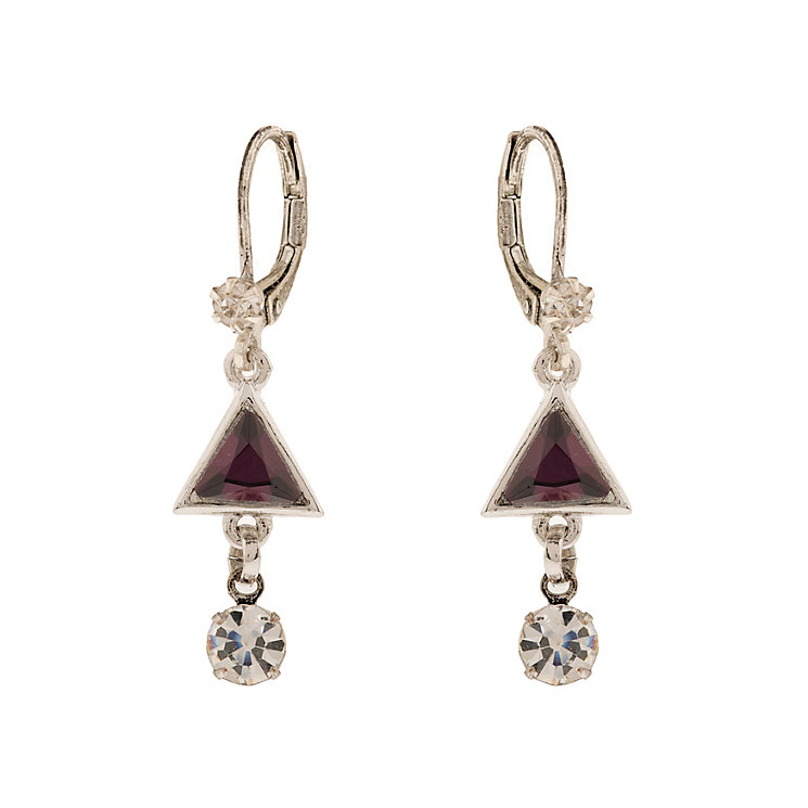 Martine Wester Purple Triangle Drop Earrings - Product number 1593064