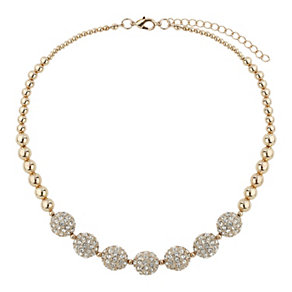 Mikey Rose Gold Tone Crystal Bead Necklace - Product number 1593153