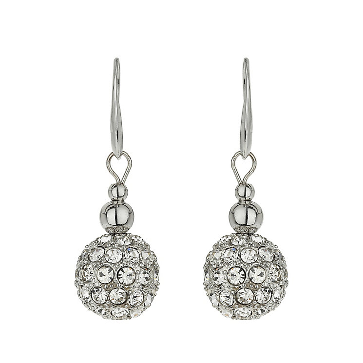 Mikey Rhodium-Plated Crystal Bead Drop Earrings - Product number 1593188