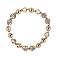 Mikey Rose Gold Tone Crystal Bead Bracelet - Product number 1593218