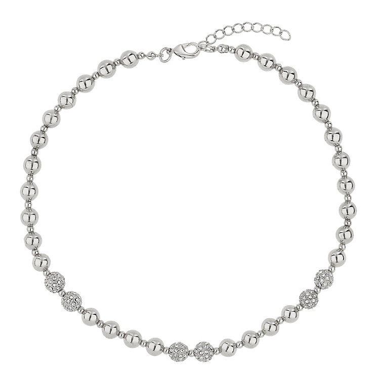 Mikey Rhodium-Plated Crystal Bead Necklace - Product number 1593234