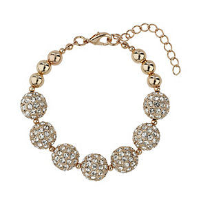 Mikey Rose Gold Tone Crystal Bead Bracelet - Product number 1593242