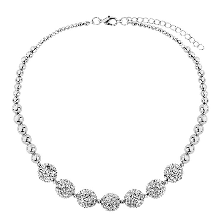 Mikey Rhodium-Plated Crystal Necklace - Product number 1593269