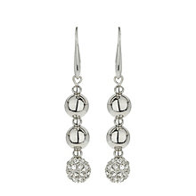 Mikey Rhodium-Plated Crystal Drop Earrings - Product number 1593323