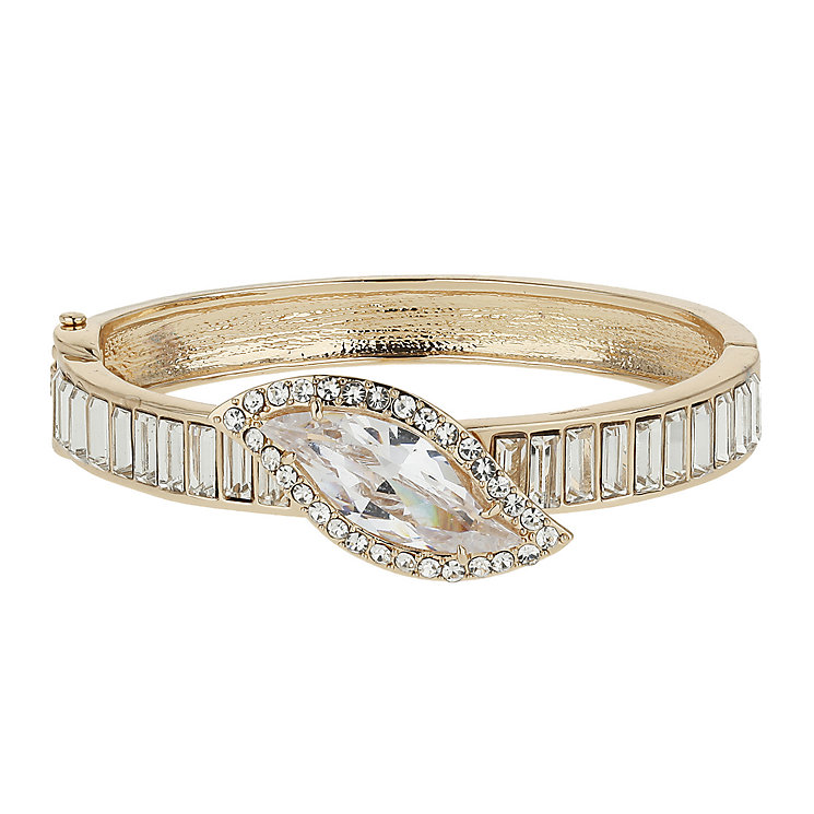Mikey Rose Gold Tone Crystal Bangle - Product number 1593331