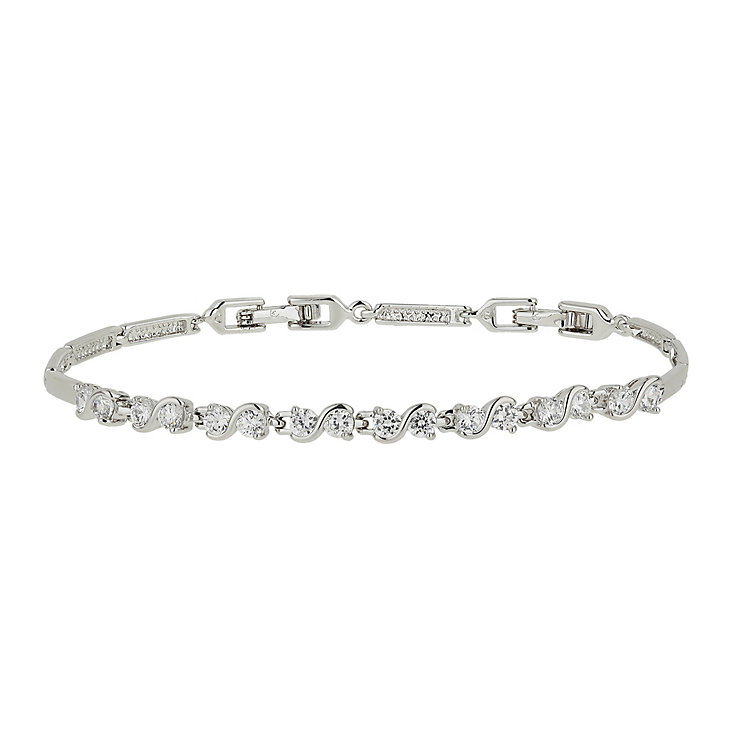 Mikey Silver Tone Small Crystal Tennis Bracelet - Product number 1593390