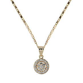 Mikey Gold Tone Pave Crystal Earrings & Pendant Set - Product number 1593439
