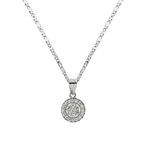 Mikey Rhodium-Plated Pave Crystal Earrings & Pendant Set - Product number 1593447