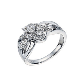 Sterling Silver Diamond Ring - Product number 1597450