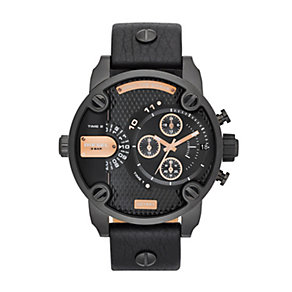 Diesel Men's Little Daddy Black Ion-Plated Strap Watch - Product number 1597620