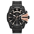 Diesel Mega Chief Men's Black Ion-Plated Bracelet Watch - Product number 1597663