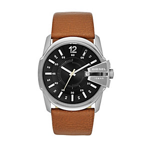 Diesel Master Chief Men's Stainless Steel Tan Strap Watch - Product number 1597671