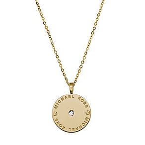 Michael Kors gold-plated round stone set pendant - Product number 1598201