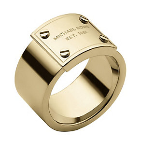 Michael Kors gold-plated logo ring size L 1/2 - Product number 1598309