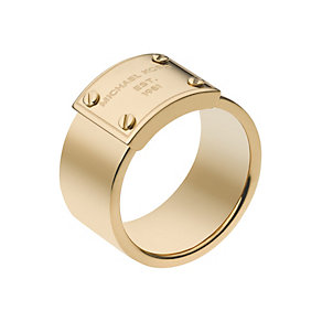 Michael Kors gold-plated logo ring size O - Product number 1598317