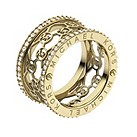 Michael Kors gold-plated stone set logo ring size L 1/2 - Product number 1598341