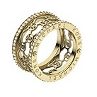 Michael Kors gold-plated stone set logo ring size N 1/2 - Product number 1598368