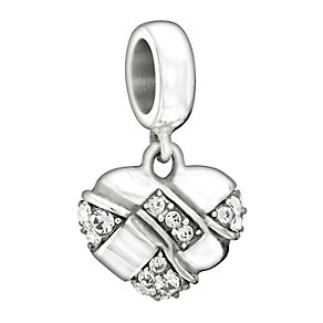 Chamilia Sterling Silver Crystal Woven Heart Bead - Product number 1599801