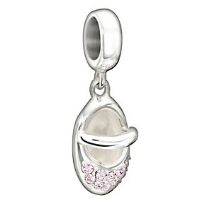 Chamilia Sterling Silver Pink Swarovski Crystal Shoe Bead - Product number 1599941