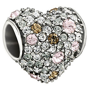 Chamilia Silver Light Pink Swarovski Crystal Heart Bead - Product number 1599992