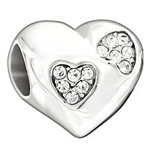 Chamilia Love Sparkles Clear Swarovski Crystal Heart Bead - Product number 1600001