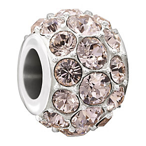 Chamilia Splendour Silver Vintage Rose Crystal Bead - Product number 1600087