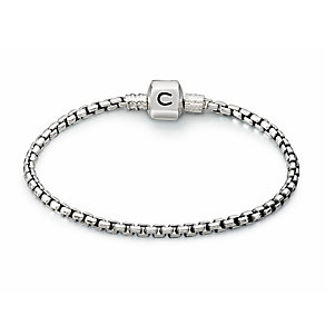 "Chamilia Sterling Silver Oxidised Box Chain 7.1"" Bracelet - Product number 1600400"
