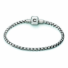 "Chamilia Sterling Silver Oxidised Box 7.5"" Bracelet - Product number 1600443"