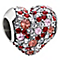 Chamilia Sterling Silver Pink Swarovski Crystal Heart Bead - Product number 1600478