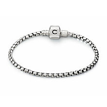 "Chamilia Sterling Silver Oxidised Box Chain 7.9"" Bracelet - Product number 1600494"