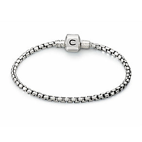 """Chamilia Sterling Silver Oxidised Box Chain 7.9"""" Bracelet - Product number 1600494"""