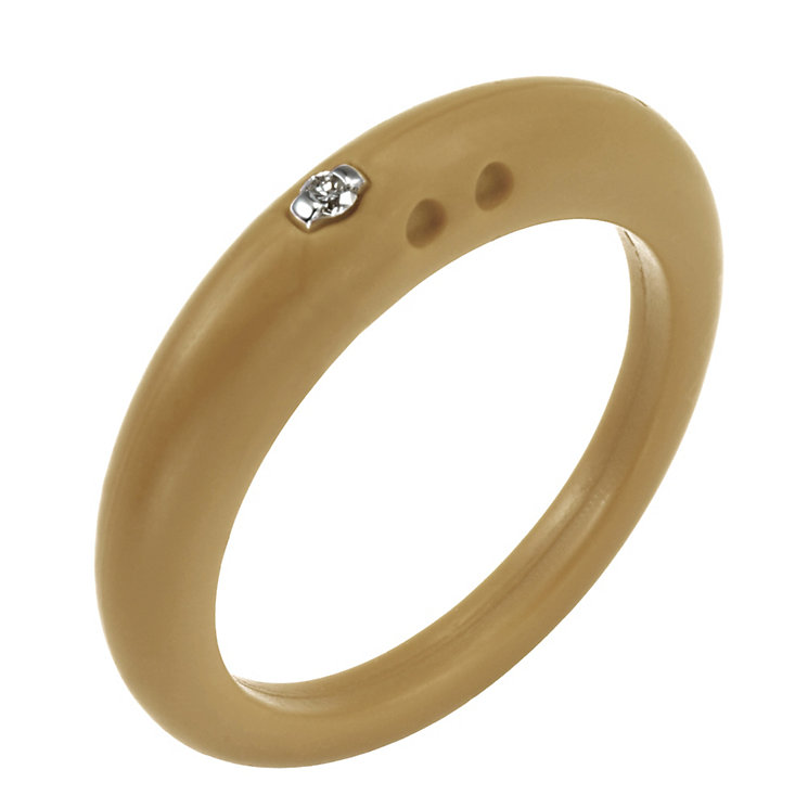 Due Punti diamond sandstone silicone ring size medium - Product number 1600516