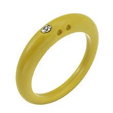Due Punti diamond lemon yellow silicone ring size large - Product number 1600559