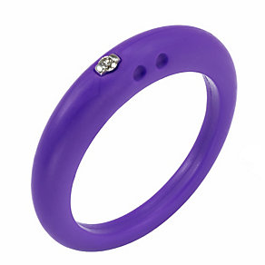 Due Punti diamond lilac silicone ring size medium - Product number 1600761
