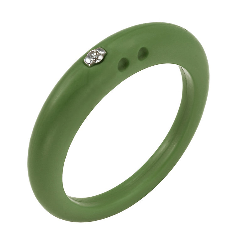 Due Punti diamond green silicone ring size small - Product number 1600982