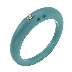 Due Punti diamond apple green silicone ring size small - Product number 1601016