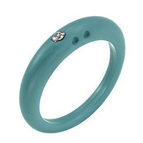Due Punti diamond apple green silicone ring size large - Product number 1601040