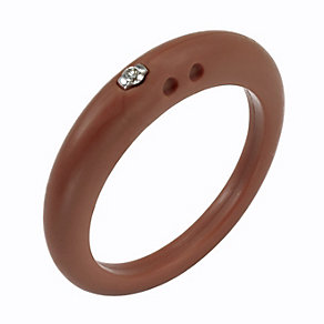 Due Punti diamond mahogany silicone ring size small - Product number 1601083