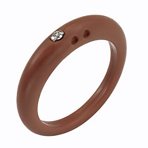 Due Punti diamond mahogany silicone ring size medium - Product number 1601091