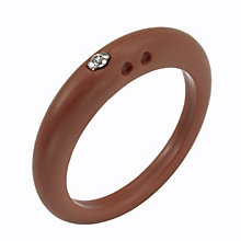 Due Punti diamond mahogany silicone ring size large - Product number 1601113